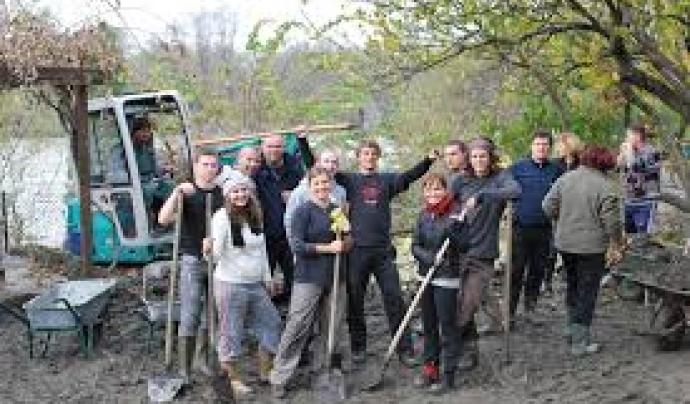 Voluntariat en un camp de renovació de boscos.