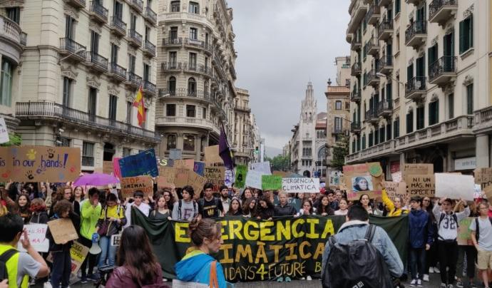 Manifestació de Fridays For Future a Barcelona del 24 de Maig Font: Fridays For Future BCN
