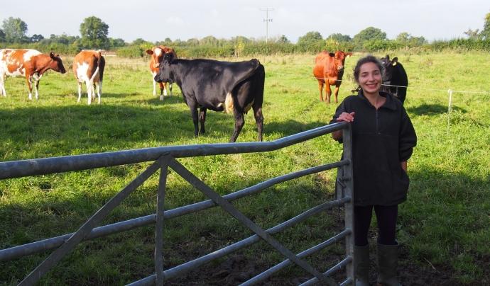 Clara Blasco va ser voluntària en una granja ecològica anglesa