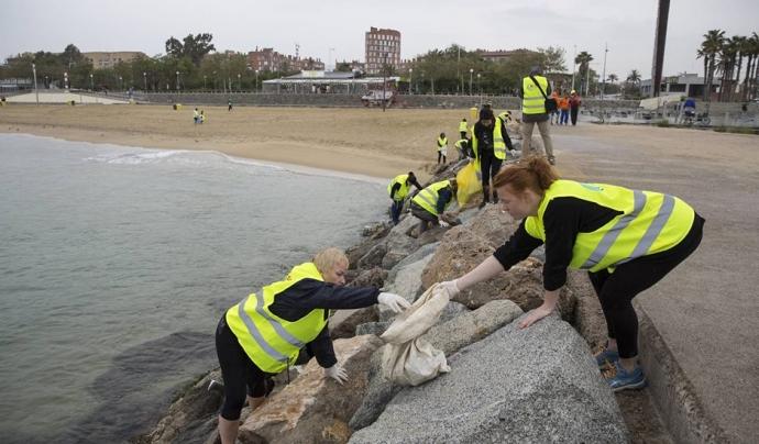 Més de 20 organitzacions formen la Xarxa de Neteja de Fons Marí del Litoral de Barcelona