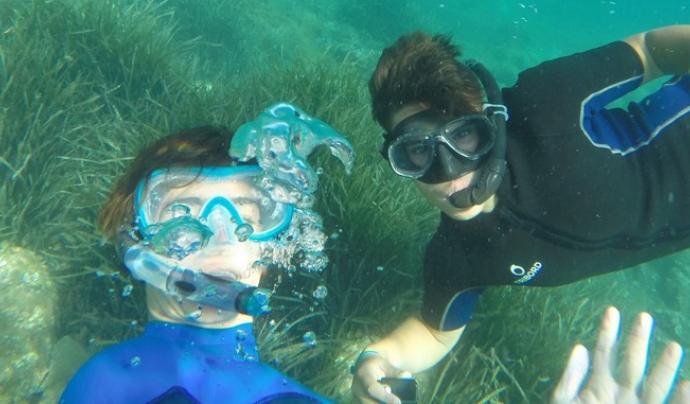 Camp de Treball dedicat al coneixement del mar amb l'entitat Xatrac  Font: Xatrac
