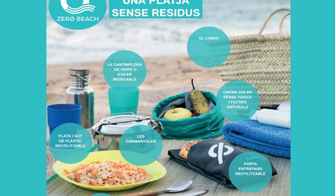 Objectiu Rezero suggereix propostes per una vida sense residus, a casa i quan anem a la platja. A través de les xarxes socials cada persona pot enviar idees per facilitar la vida #residuzero. Font: Fundació Rezero