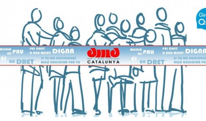 El logotip de l'associació Dret a Morir Dignament de Girona