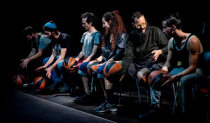 Josep Maria Aragay durant un taller de Basket Beat. Font: Basket Beat