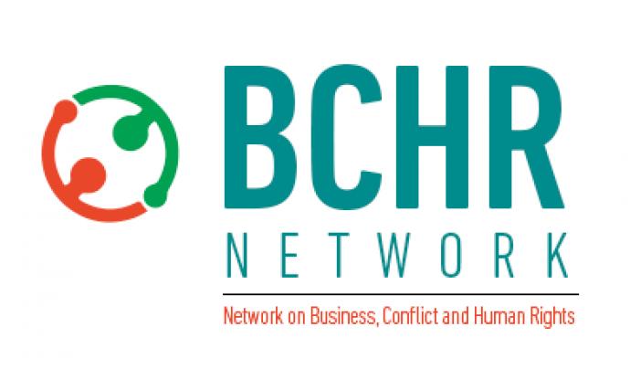 Logo de la Xarxa Sobre Empreses, Conflictes i Drets Humans.