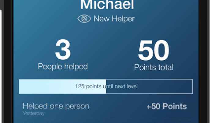 """L'aplicació té una part de """"Gamificació"""", quantes més persones ajudis més punts obtindràs."""