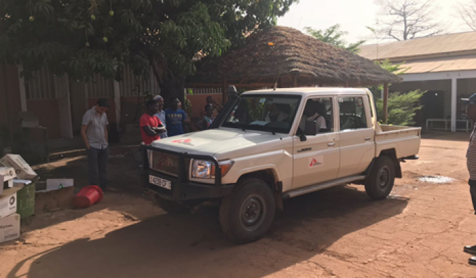 Base de MSF a Bafatá, Guinea Bissau.