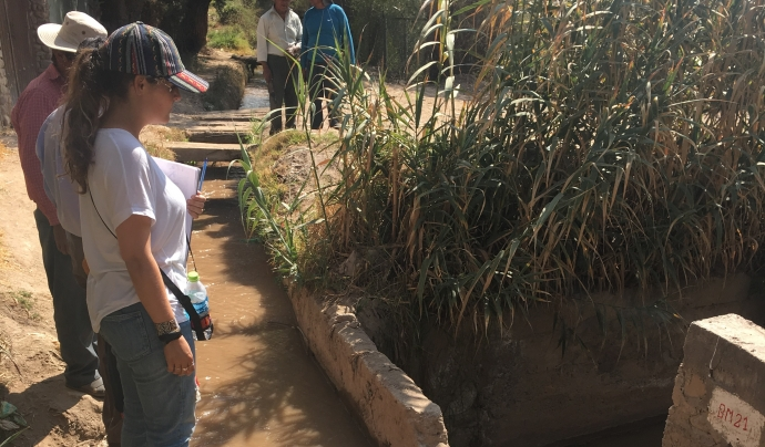 Al projecte que estan desenvolupant a Bolívia han pogut adaptar part del treball tot i que està aturada la rehabilitació del canal de ref. Font: Base-A. Font: Font: Base-A.