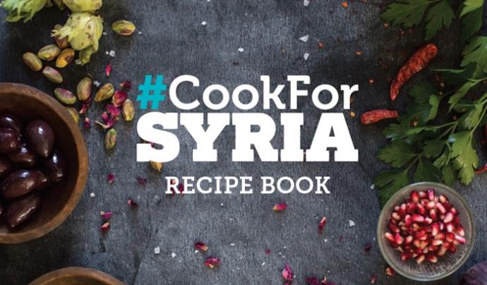 Llibre de receptes que dóna suport a la campanya. Font: CookForSyria