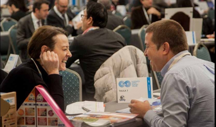 El Business with Social Values posa en contacte empreses socials i mercantils. Font: BWSV