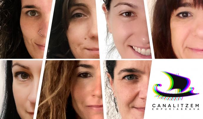 Marta Fuentes, Paola Bagna, Vania Da Rui, Marina Gimeno, Cristina Moreno, Lola Arpa i Victoria Fuentes, membres de Canalitzem. Font: Canalitzem
