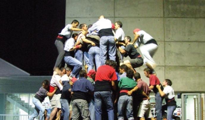 Assaig de la colla capgrossos de Mataró