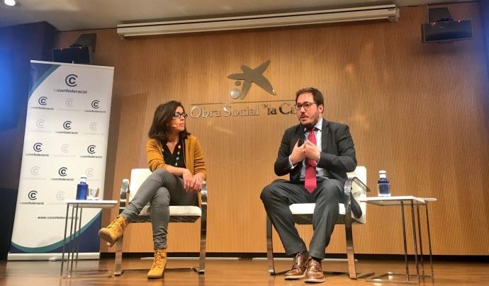 Abigail Blanco i Alfredo Bayón, ponents de la sessió Font: La Confederació