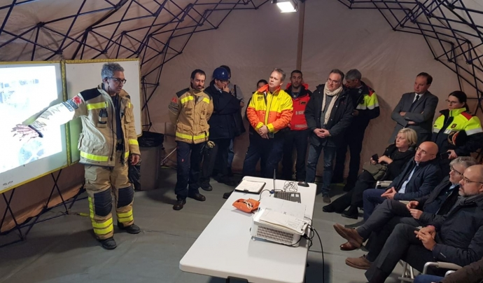 Reunió dels serveis d'emergència. Font: Mossos