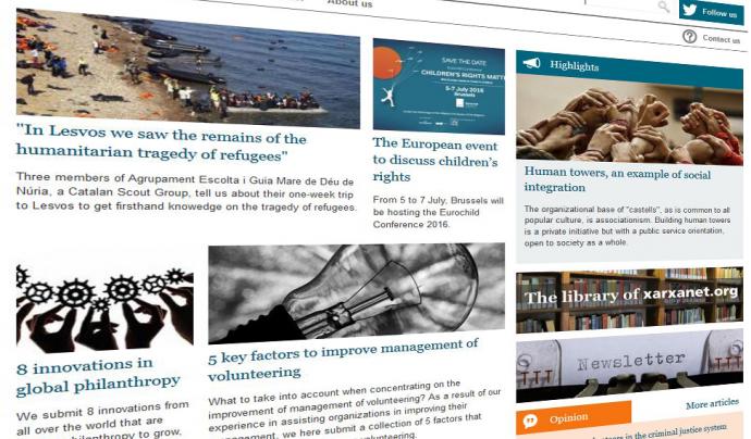 Captura de pantalla de nonprofit.xarxanet.org Font: