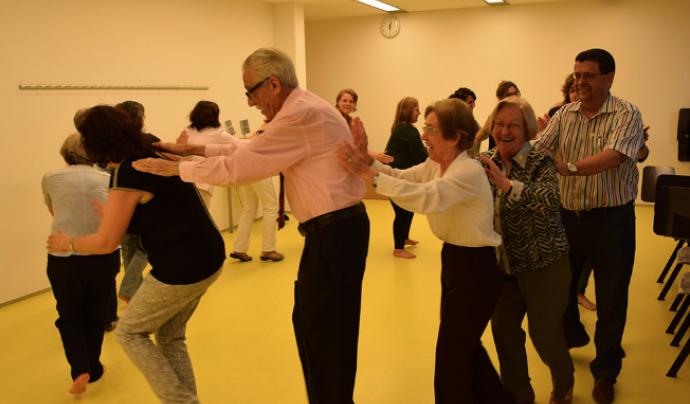Imatge d'un dels tallers de la jornada de voluntariat en l'àmbit de la salut celebrada el 2015