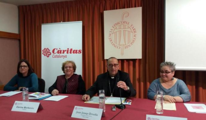 Imatge de l'acte de presentació de la memoria social de l'any 2015 (Font: caritasbcn.org)