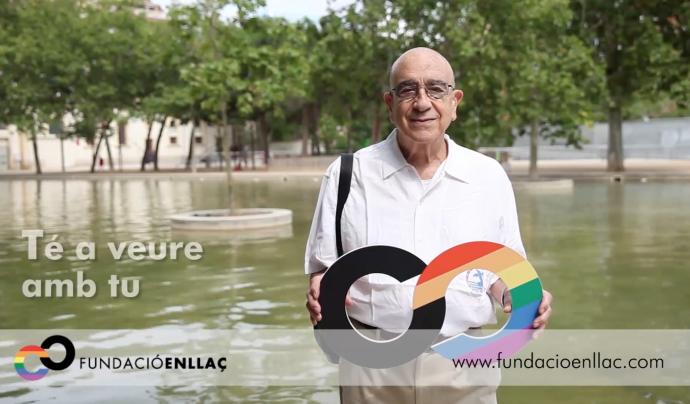 Imatge de la campanya de la Fundació Enllaç a favor dels drets del col·lectiu LGTB