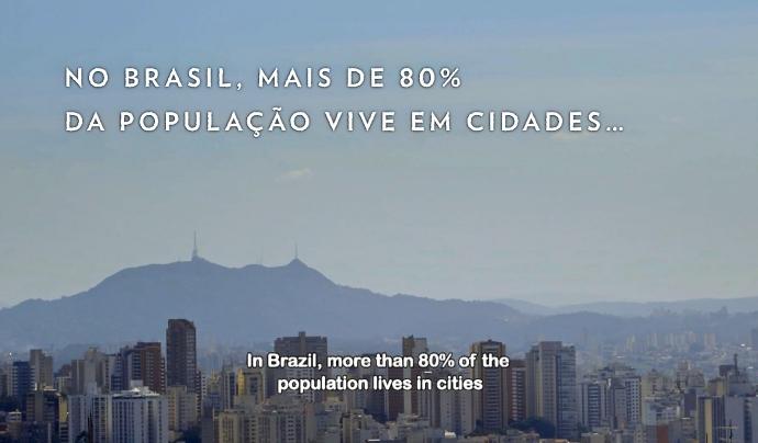 Al Brasil, el 80% de la població viu en ciutats  Font: Instituto Alana