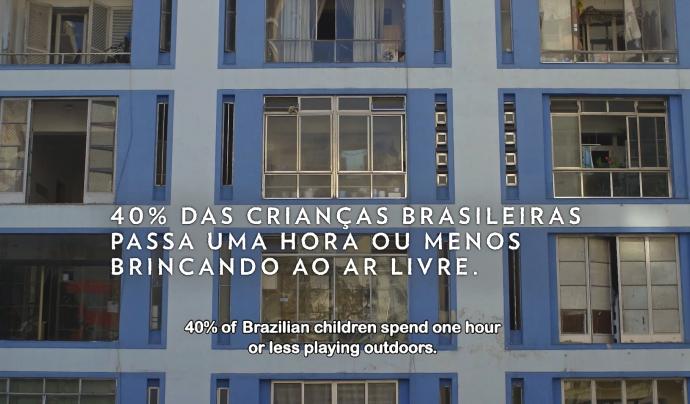 El 40% dels nens brasilers passen 1 hora o menys al dia jugant a l'aire lliure  Font: Instituto Alana