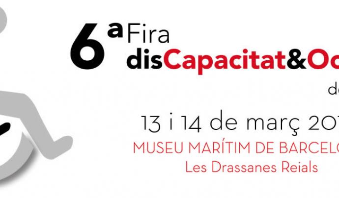 Logo de la Fira Discapacitat i Ocupació de Barcelona. Font: FECETC