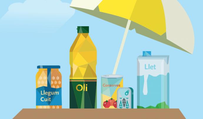 Imatge gràfica de la campanya. Font: Fundació Banc dels Aliments