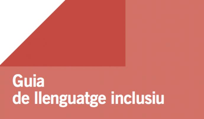 Portada de la 'Guia de llenguatge inclusiu'.