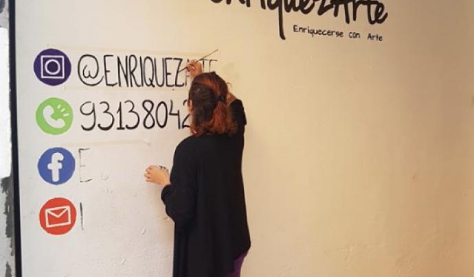 Procés artístic per dissenyar l'entrada a l'espai d'EnriquezArte.