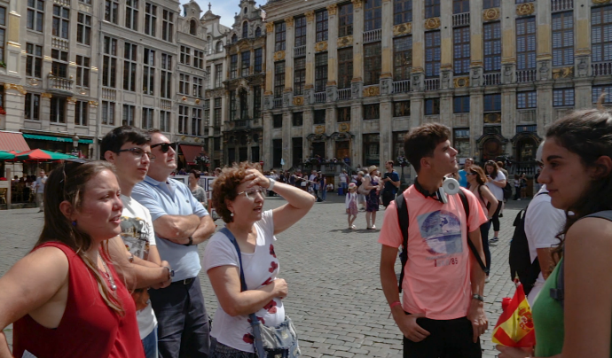 Fotograma del documental 'Free tours, treballar per propines' Font: Oriol Daviu