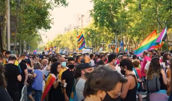 Milers de persones han sortit al carrer per denunciar la LGTBI-fòbia. Font: IdemTV