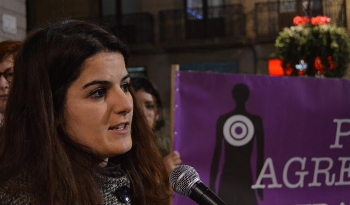 Carla Rigol, psicòloga de l'associació Hèlia.  Font: Relats en Femení