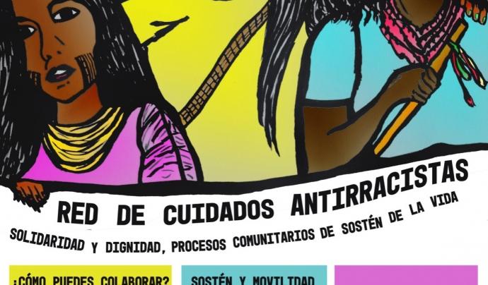 Cartell informatiu de la xarxa antiracista. Font: Xarxa de cures antiracista de Barcelona.