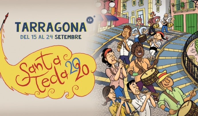 Cartell de l'edició d'eguany de la Festa Major de Santa Tecla. Font: Twitter @TGNAjuntament