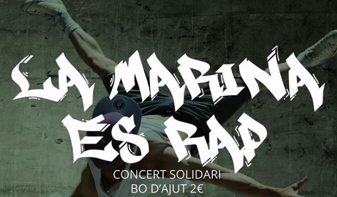 Cartell del concert solidari de rap. Font: Espai Jove La Bàscula