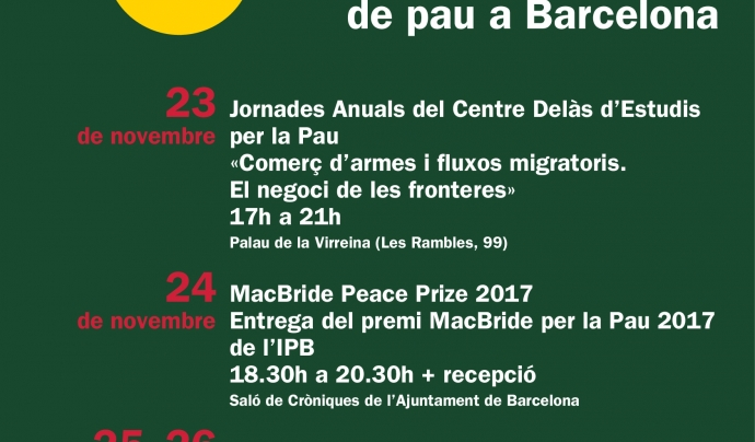"Cartell del ""4 Days 4 Peace""."