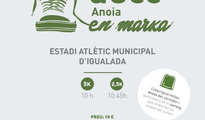 Cartell de la I Cursa 'AECC Anoia en marxa'