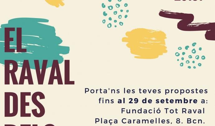 """Cartell de la tercera edició del concurs """"El Raval dels teus ulls"""" Font: Fundació Tot Raval"""