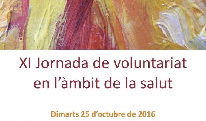 Cartell de l'11a edició de la Jornada de voluntariat en l'àmbit de la salut
