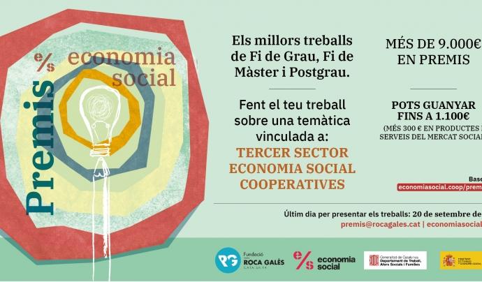 Cartell dels Premis Economia Social 2021 Font: La Centraleta