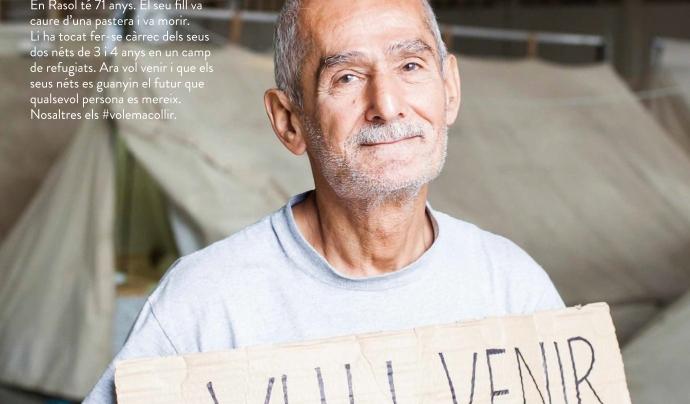 """Cartell de la campanya """"Casa nostra casa vostra"""". Un dels objectius de la campanya és personalitzar la crisi de refugi."""