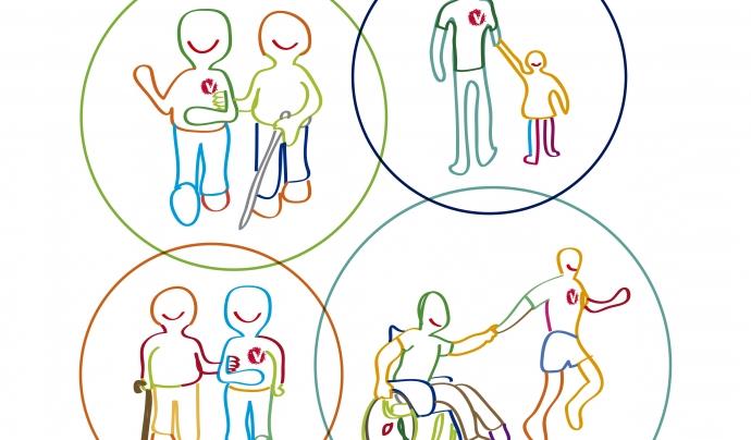 El programa fomenta el voluntariat de proximitat creant una xarxa entre les persones voluntàries, les persones usuàries i els agents del barri (Font: FCVS)