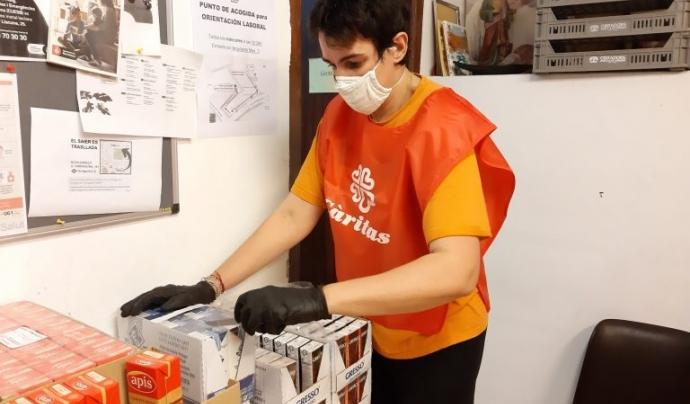 Les famílies que acompanya Càritas durant la pandèmia no tenen assegurada ni tan sols l'alimentació bàsica. Font: Càritas