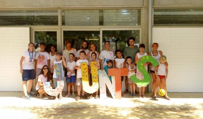 Infants a l'últim casal d'estiu organitzat per l'entitat Junts Autisme. Font: Junts Autisme.  Font: Junts Autisme