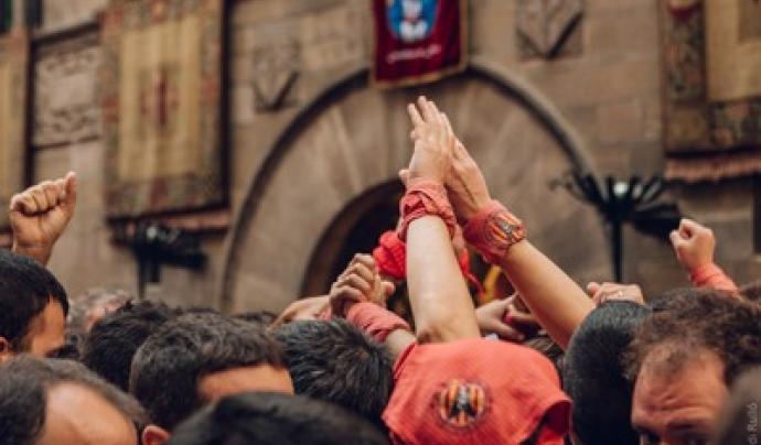 El nou protocol per a l'activitat castellera permetrà als Castellers de Lleida fer pilars de sis pisos. Font: Festes de la Tardor de Lleida