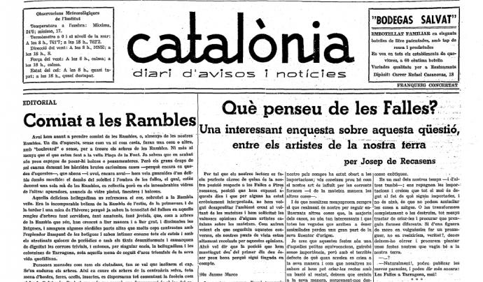 Portada de 1936 del Catalònia