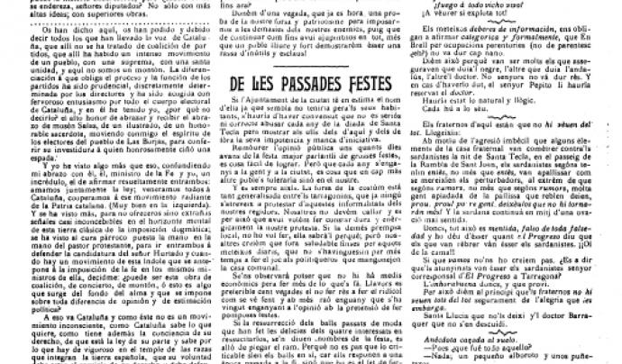 Article a 'Catalunya Nova' el 1908