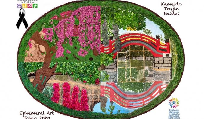 La catifa floral que ha presentat la Federació Catalana de Catifaires. Font: Federació Catalana de Catifaires