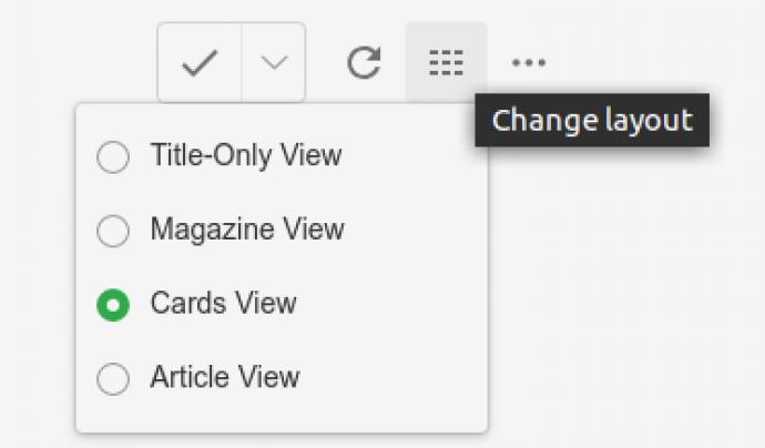 A partir d'aquest botó pdoem canviar les opcions de visualització Font: Feedly