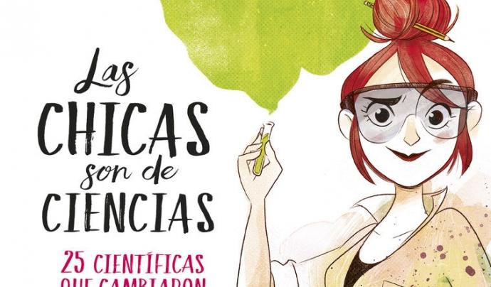 'Las chicas son de ciencias'. Irene Cívico i Sergio Parra. Font:  Penguim Random House
