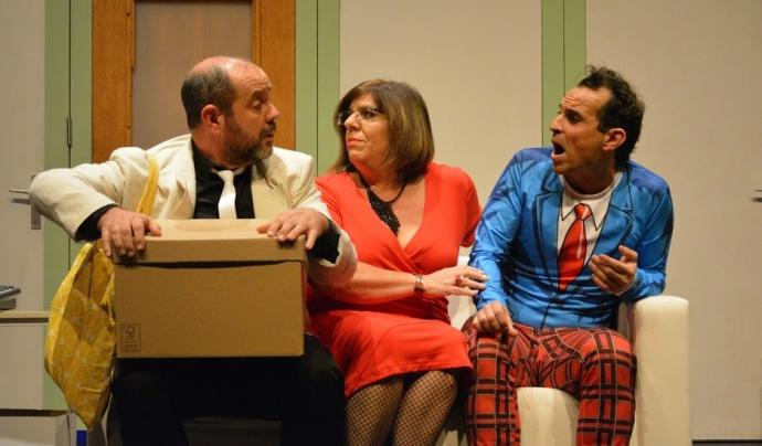Imatge de l'espectacle 'Volta i volta' de la companyia Maçateatre, grup sorgit de l'Aula de Teatre de Maçanet de la Selva. Font: FITAG